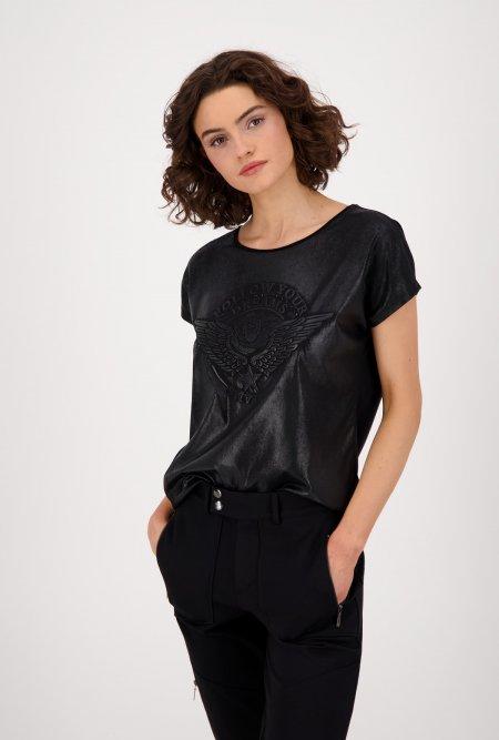 T-Shirt_mit_Glanzeffekt_und_Print-Schwarz-monari
