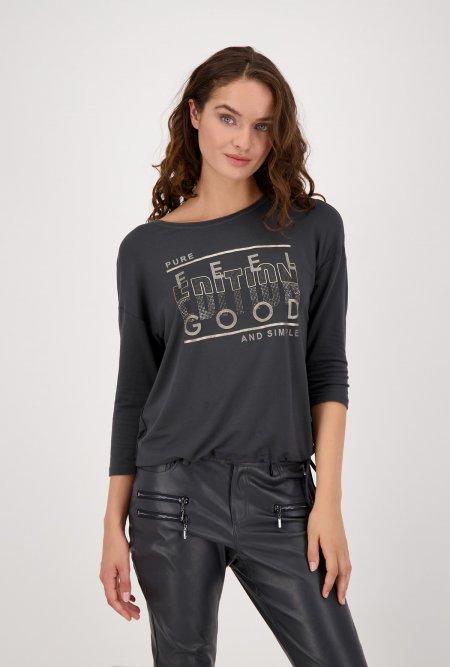 Jersey_Shirt_mit_¾_Arm_und_Print-Grau-Anthrazit-monari