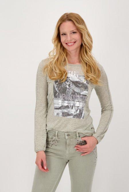 Leichtes_Jersey_Shirt_mit_Rundhals_und_Print-Grau-Grün-monari