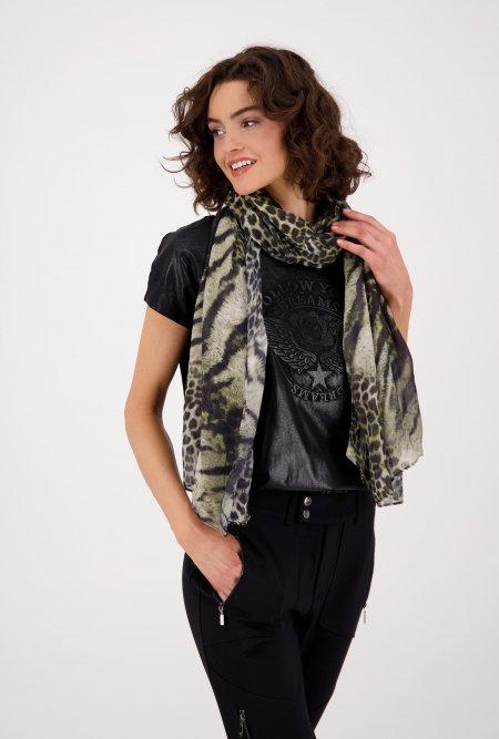 Leichter_Schal_im_Animal_Design-Schwarz-Grau-Grün-monari