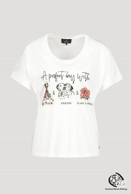 Halbarm T-Shirt mit Rundhals und Print