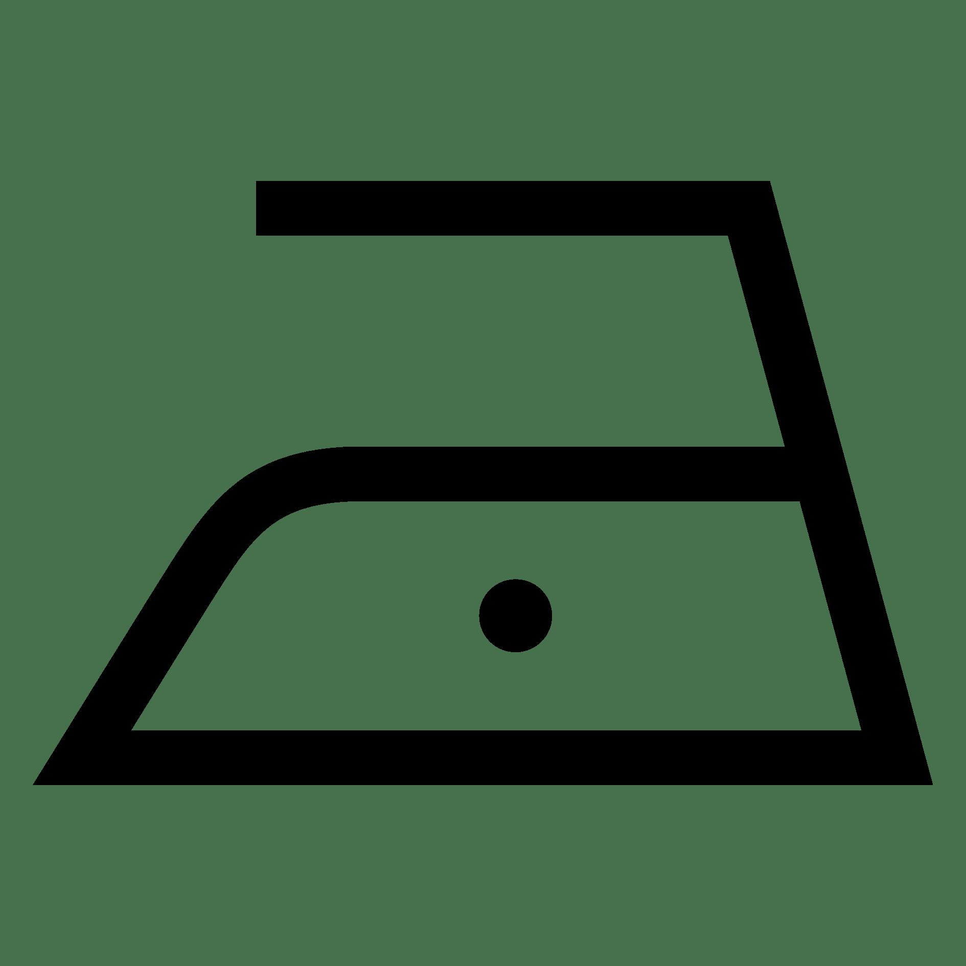 Bügeln mit einer Höchsttemperatur der Bügeleisensohle von 110 °C (kein Bügeln mit Dampf)