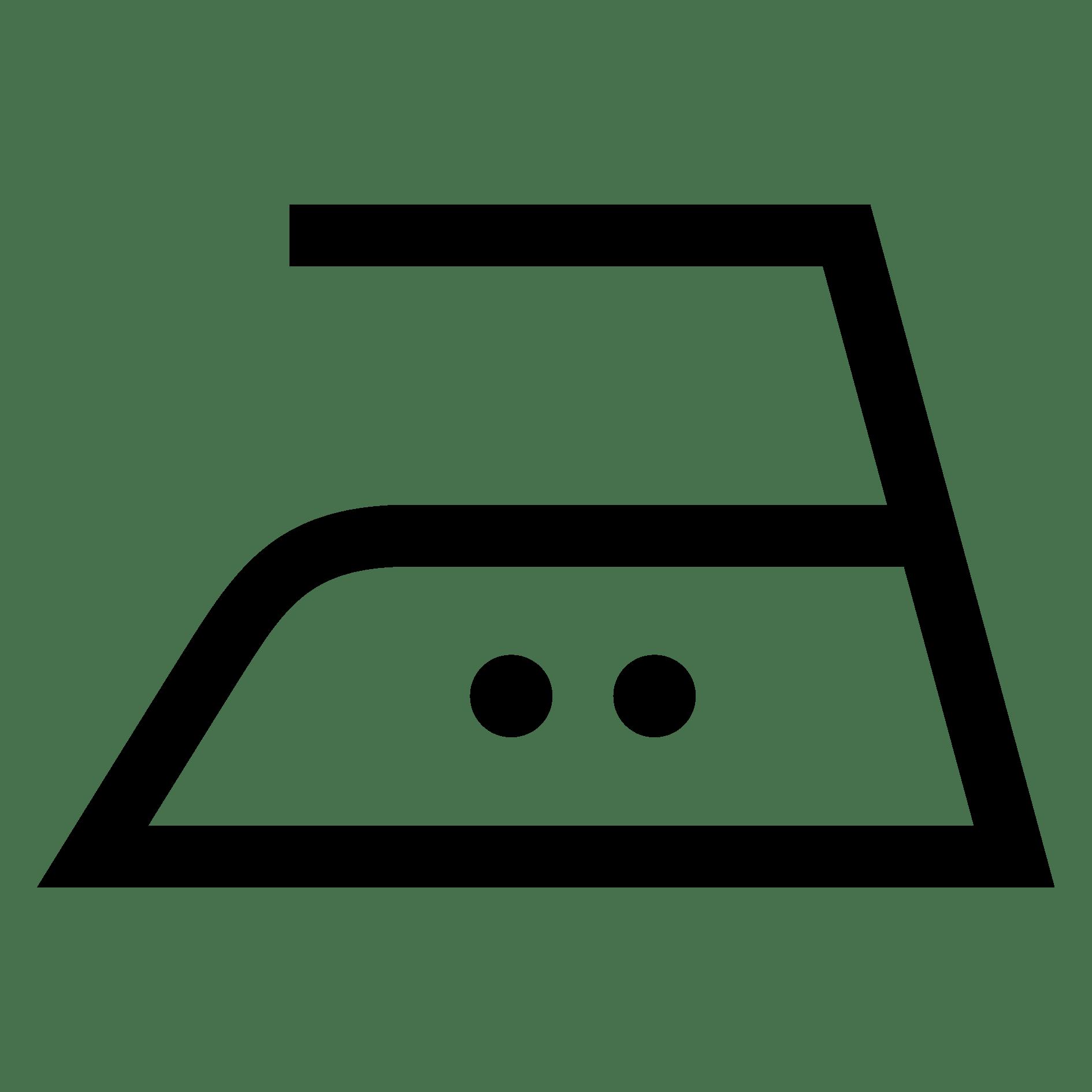 Bügeln mit einer Höchsttemperatur der Bügeleisensohle von 150 °C