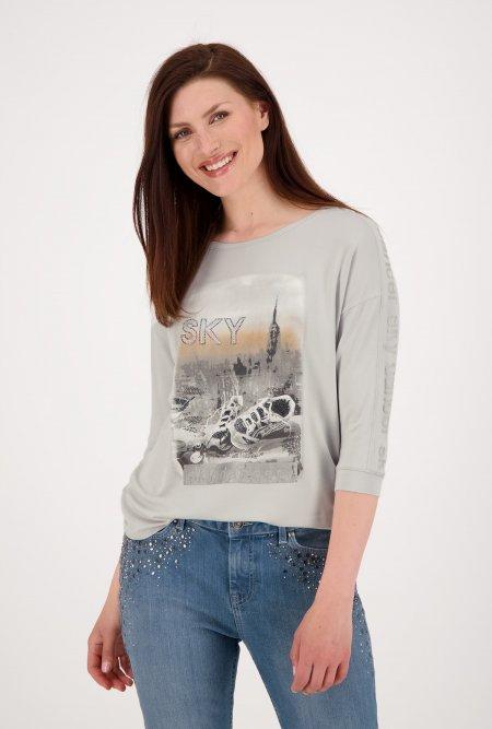 Jersey_Shirt_mit_¾_Arm_und_Print-Grau-monari
