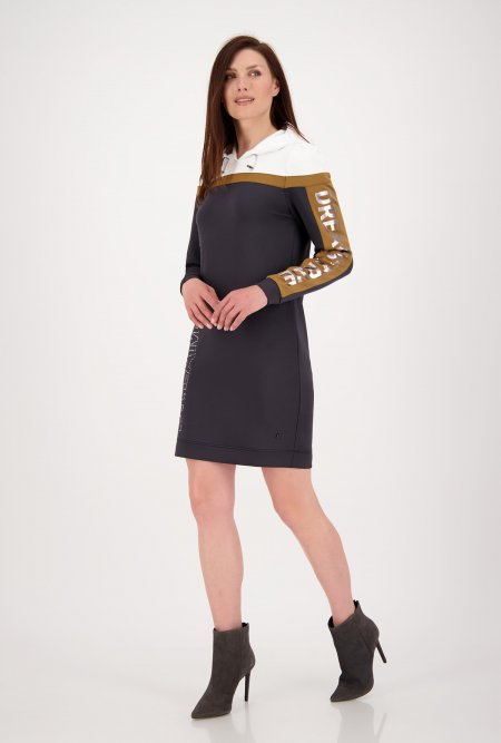 Kleid_im_Colour-Block-Design_mit_Kapuze-Anthrazit-Weiß-Braun-monari