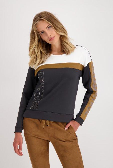 Colorblock_Sweatshirt-Grau-Anthrazit-Weiß-Braun-monari