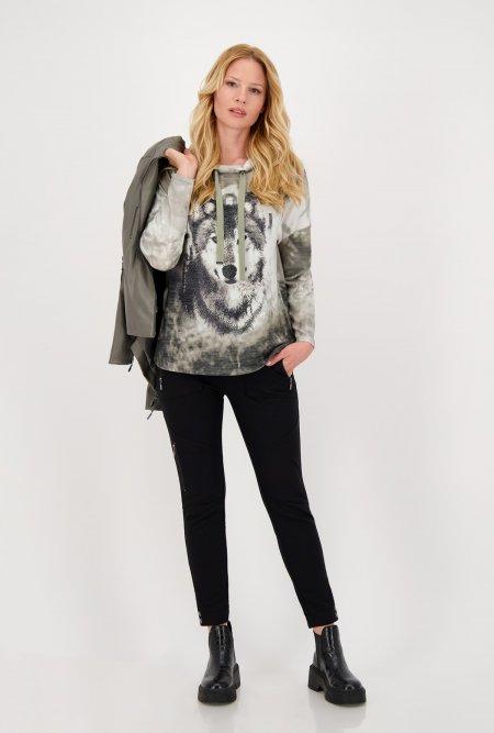 Langarm_Jersey_Shirt_mit_Stehkragen_und_Print-Grau-Off-White-Grün-monari